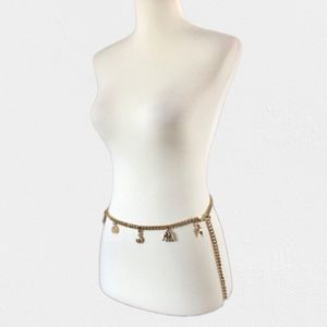 St. John Couture RARE Gold Tone Charms Belt